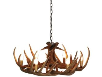 Wide Antler Chandelier. Product Information: Height including chain: 1200mm. Dimensions: H: 300mm Dia: 720mm