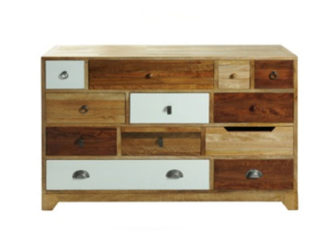 This Vintage 12 Drawer Chest comes in tropical mango wood and has variously sized and finished drawers.Dimensions: Width: 120 cm Height: 91 cm Depth: 40 cm