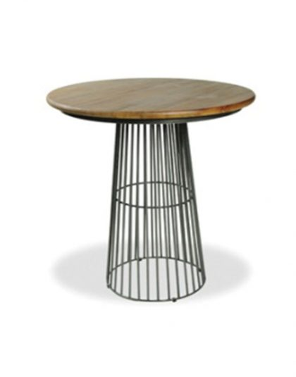 Birdcage Bar Table with Mango Wood Top. Perfect for in-home entertaining. Dimensions: Width 90cm x Length 90cm x Height 101cm.