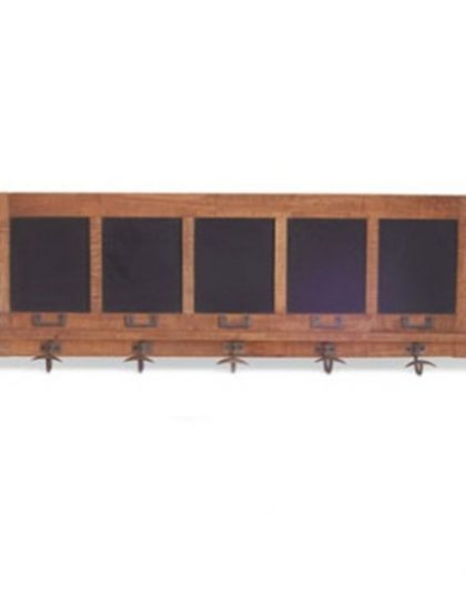 Blackboard Style hanger. Perfect for the inudstrial setting. Pairing factory-chic design with an elegantly weathered appeal. Size: 112 x 9.5 x 41 cm