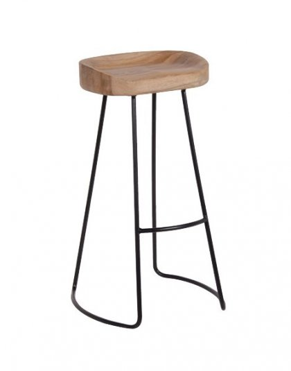 This Wood and Iron Bar Stool is just perfect for that Industrial setting or even in a living Setting, the size just makes it just perfect for smaller spaces