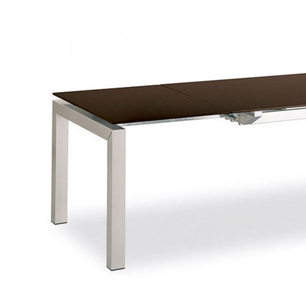 Calligaris connubia airport glass extending table den living for Calligaris airport