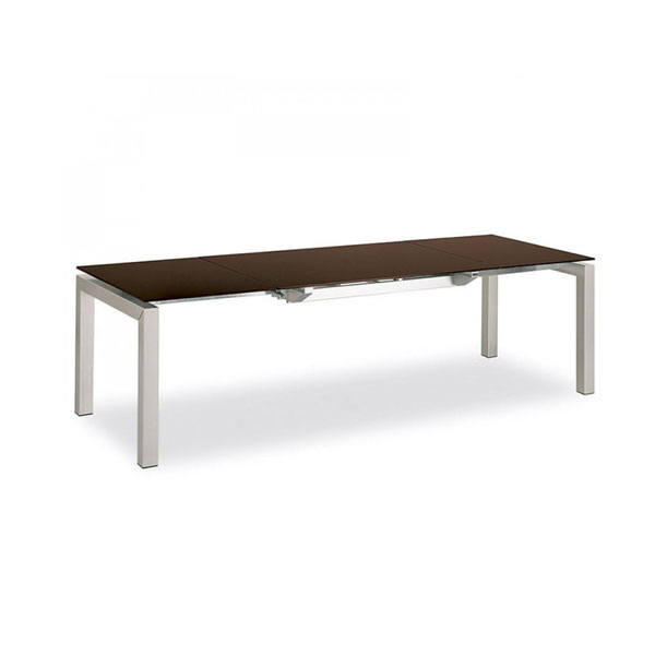 Calligaris Connubia Airport Glass Extending Table Den Living