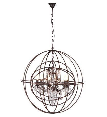 Den Living Metal Sphere Chandelier