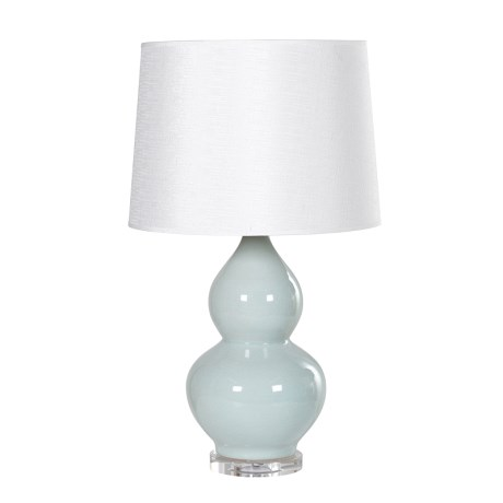 Teal hourglass lamp with shade den living teal hourglass lamp with shade aloadofball Gallery