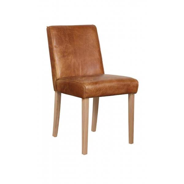 Barton Chair Oak Legs Cerato Leather Den Living