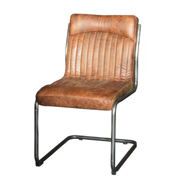 The Hipster Dining Chair has a sleek shape that combines a metal frame and leather seat, delivering a chair that is ideal for any style.