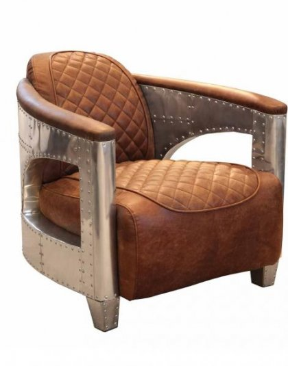 The Hurricane Chair has a Bold shape with Chrome panelling, delivering a chair that is ideal for that perfect living room setting.