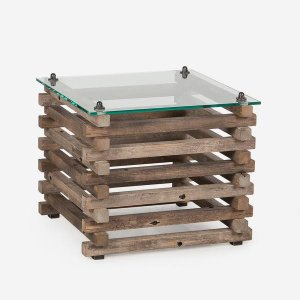 Andrew Martin: Bertrand Log Side Table Product Height: 52 (cm) Product Width: 60 (cm) Product Depth: 60 (cm) Weight: 29 (kg