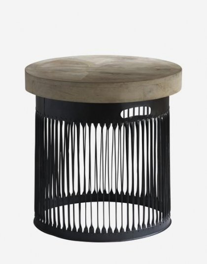 Andrew Martin: Bhilai Side Table. A unique piece for a new look in your home. Product Height: 54 (cm) Product Diameter: 59 (cm) Weight: 27.5 (kg)