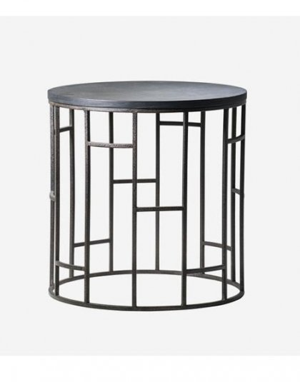 Andrew Martin Blackout Side Table. This unique piece is just perfect for those smaller spaces. Product Height:50 (cm) Product Diameter:50 (cm) Weight:7 (kg)