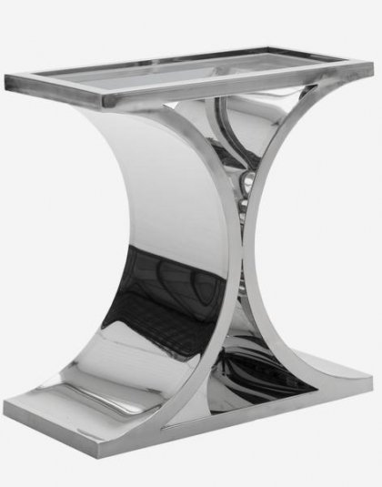 Andrew Martin: Brion Side Table. Product Height: 60 (cm) Product Width: 60 (cm) Product Depth: 30 (cm) Weight:14 (kg).
