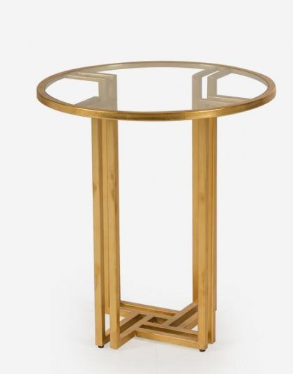 Andrew Martin: Evelyn Side Table. Perfect for any setting. Product Height: 67 (cm) Product Diameter: 61 (cm) Weight:24 (kg)