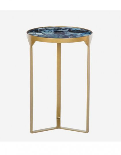Ida Side Table Colbalt. This unique piece is just perfect for those small spaces. Product Height:56 (cm) Product Width:36.5 (cm)Product Depth: 36.5 (cm).