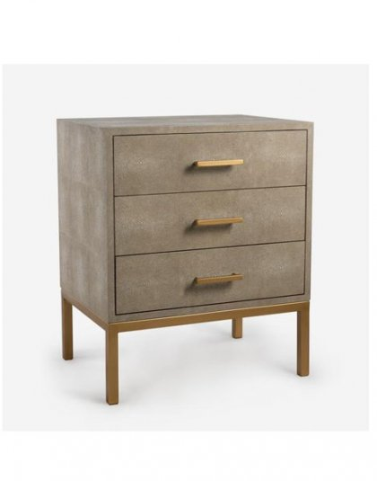 Jasper Side Chest - Cream. Perfect for those smaller spaces. Product Height: 66 (cm) Product Width:55 (cm) Product Depth: 41 (cm) Weight:25 (kg)