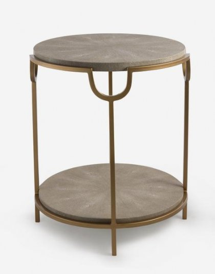 Andrew Martin: Katia Side Table. Perfect for any setting. Product Height: 56 (cm) Product Diameter: 50 (cm) Weight:18 (kg)