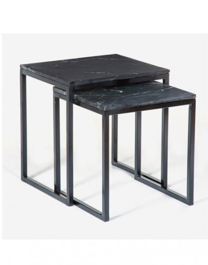 Reese Nested Side Tables. Perfect in a Living room setting. Product Height:47.5 (cm) Product Width:46 (cm) Product Depth:40.5 (cm) Weight:19.8 (kg)