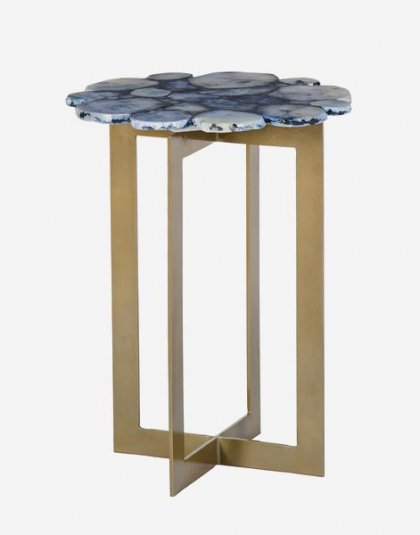 Andrew Martin: Brass Rosalie Side Table . Perfect for any setting. Product Height:53 (cm) Product Width:40 (cm) Product Depth:40 (cm) Weight: 10.85 (kg)