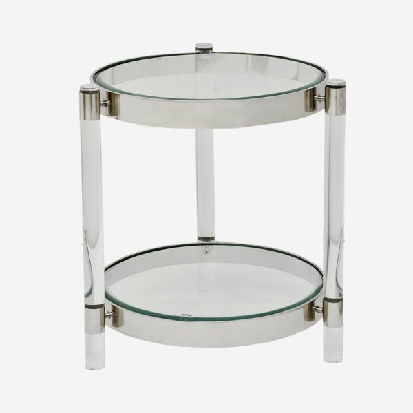Andrew Martin: Sachs Side Table. Product Height:55 (cm) Product Diameter: 50 (cm) Weight: 14.7 (kg).
