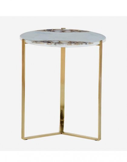 Shea Side Table Product Height:53.5 (cm) Product Width:46 (cm) Product Depth:46 (cm) Weight:9.85 (kg)