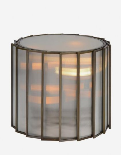 Andrew Martin: Shutter Side Table. Perfect for that Living room Setting. Product Height:50 (cm) Product Diameter:60 (cm) Weight:29 (kg)