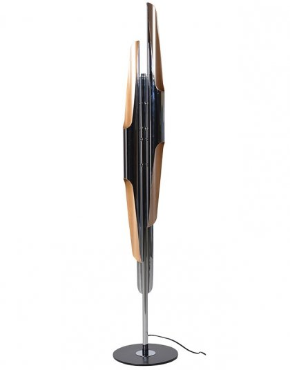 Chrome Tubular Floor Lamp. Dimensions: H: 1600mm Dia: 300mm