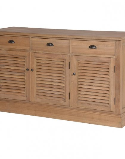 Weathered Oak Louvered Sideboard. Perfect for that Bedroom or Livingroom Setting. Dimensions: H: 850mm W: 1470mm D: 460mm.
