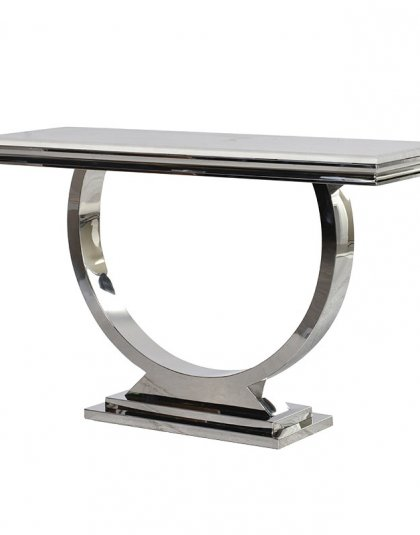 Steel & Composite Marble Console Table. Dimensions: H: 750mm W: 1200mm D: 400mm