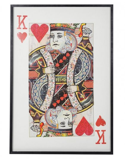 King of Hearts Collage. Dimensions: H: 1450mm W: 1000mm
