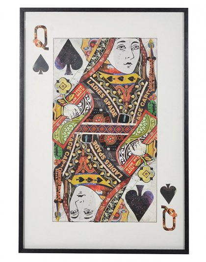 Queen of Spades Collage. Dimensions: H: 1450mm W: 1000mm