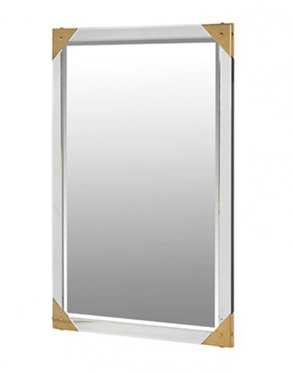 Gold Cornered Wall Mirror.This Large Cornered Wall Mirror is just perfect of almost any setting .Dimensions: H: 1120mm W: 760mm