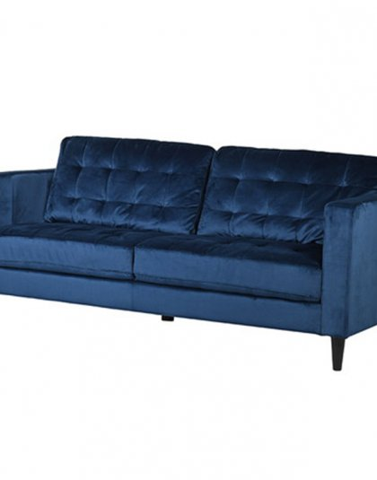 The Indigo Velvet Sofa is a very sleek and stylish Den select pick. Perfect for the living room setting. Dimensions: H: 860mm W: 1980mm D: 880mm.