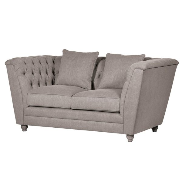 The Grey Buttoned 2 Seater Box Sofa is just perfect for that living room or cinema room setting. Dimensions: H: 800mm W: 1690mm D: 900mm.