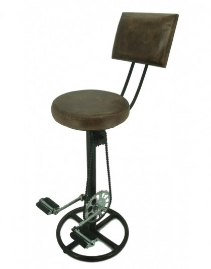 The Bar-Stool With Bicycle Pedals is a unique piece for that industrial setting.Keep your guests working for their next drink with our Bicycle Bar-stool.