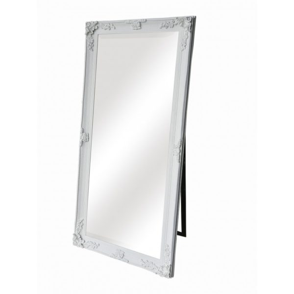 Dressing Mirror-White . A stunning full-length design, painted in with a flat white finish, perfect for the dressing table. Dimensions: 69