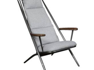 A Newmarket Studio Chair In New Grey Chenille.Dimensions: Width- 730mm Depth-930mm Height-1000mm