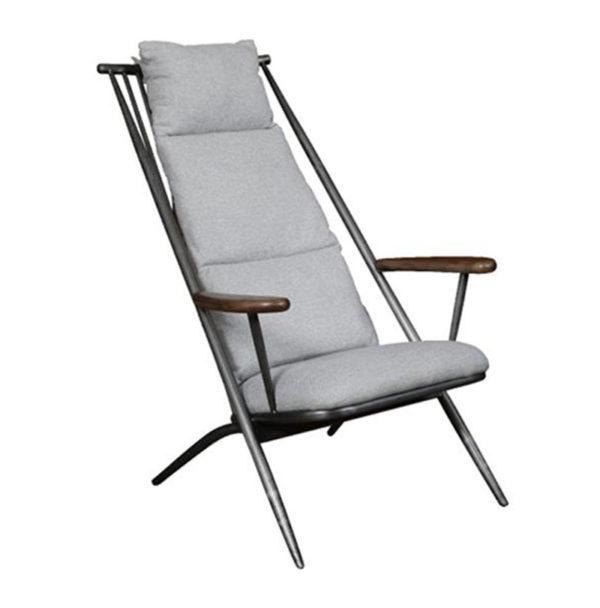 Newmarket Studio Chair New Grey Chenille Den Living