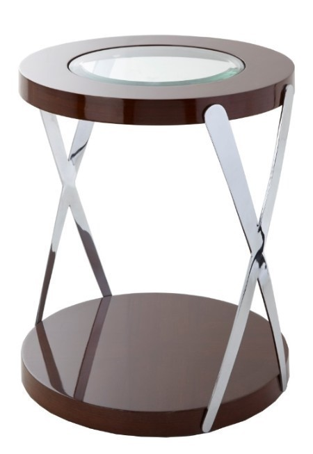 The Matera Accent Side Table is a great example of a sleek design.This piece comes with a stainless steel frame and finished in lacquered ebony.