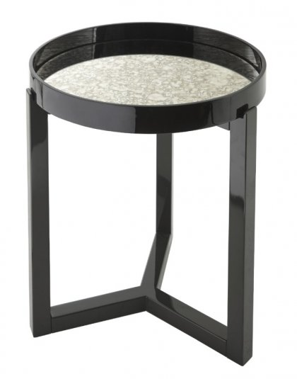 The Fyne black gloss Round table is a vivid accent giving a hint of elegance to its interior resting place. Height:65.5 cm Width:52 cm Depth:52 cm.
