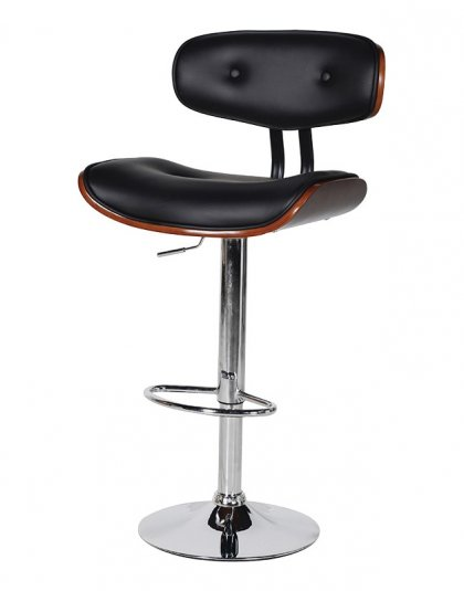 A Stylish Black Seat Adjustable Bar Stool, perfect for a dining setting or even your own home bar.