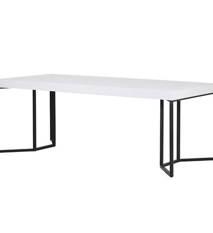 This White Gloss Dining Table is the perfect piece for any contrasting setting.With, it's sleek white gloss top and black steel legs.