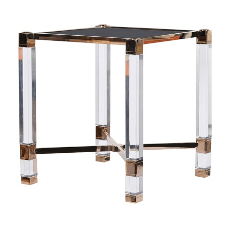 The Acrylic Lamp Table is a pure example of professional craftsmanship.The piece has a very sleek design and is just perfect for those smaller spaces.