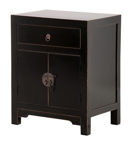 The Shanxi Black Bedside Table is a great addition to that bedroom or dressing room setting.With, a sleek black finish this piece is not one to miss out on.
