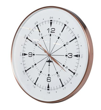 This Copper Finish Wall Clock is just perfect for that living room setting.Product Information: Dimensions: D: 60mm Dia: 760mm.