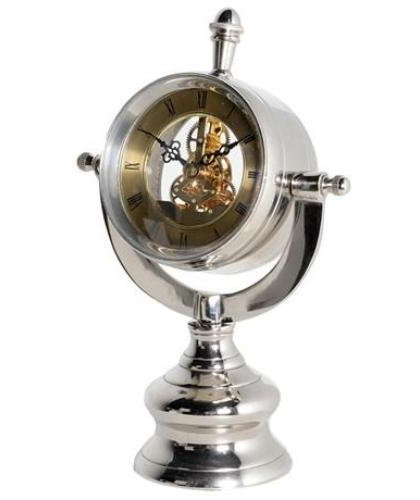 This Stunning Nickel Ships Clear Table Clock With Mechanism Would Be A Great Addition To Any Modern Or Contemporary setting.