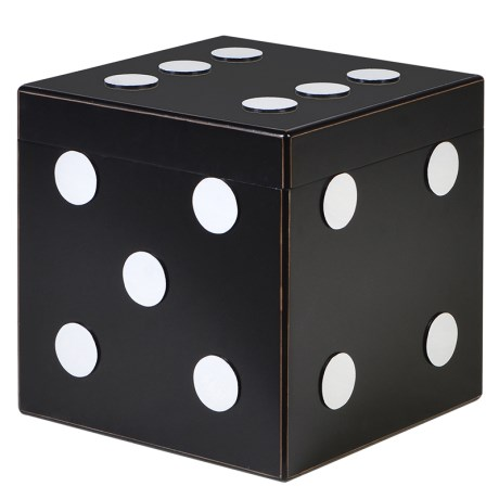 This Black Dice Storage Box is a great fun addition to any room. Made from polished resin and finished in classic black and white, this piece is one you shouldn't miss out on.