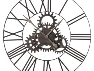 This Large Metal Cog Clock is just perfect for that industrial or living setting. Product Information: Dimensions: Dia: 900mm. Comes Fully Assembled.