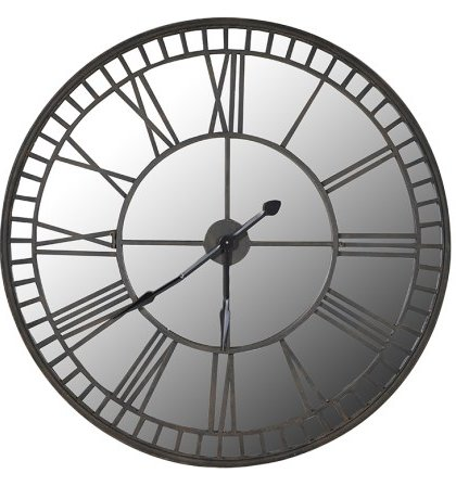 The Mirror Iron Wall Clock is Designed with a reflective glass face to bounce light around the room. Product Information :Dimensions: Dia: 1060mm