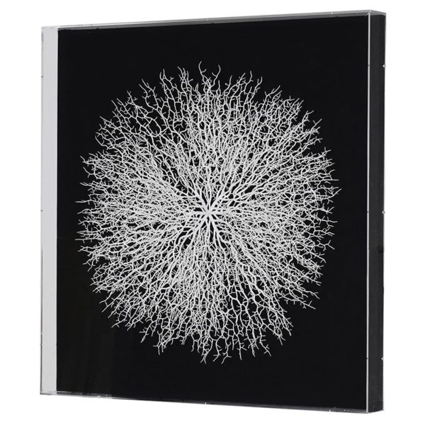 This Elegant White Faux Coral Wall Art is almost perfect in any setting. Product Information : Dimensions: H: 900mm W: 900mm D: 80mm