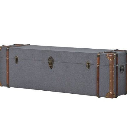 This Large Grey Fabric Trunk is just perfect for that bedroom or dressing room setting needing a little extra storage. H: 440mm W: 1390mm D: 420mm
